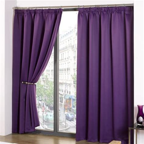 thermal supersoft blackout curtains purple tony s