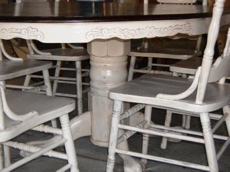 remodelaholic  stained  painted white oak pedestal