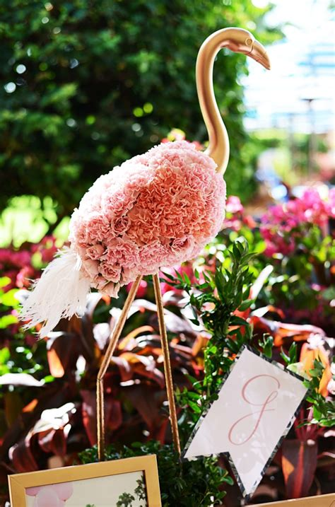 beths flamingo inspired baby shower palm beach