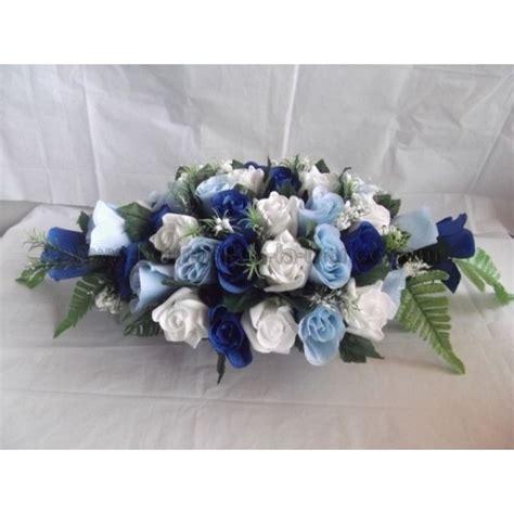 composition de table pour mariage th 232 me bleu marine bouquet de la mariee