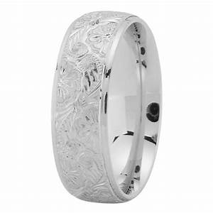 wedding band 7mm hand engraved men39s wedding ring in With men s engraved wedding ring