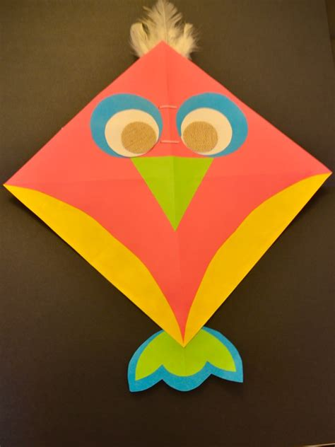 simple kite   paper  diy activity
