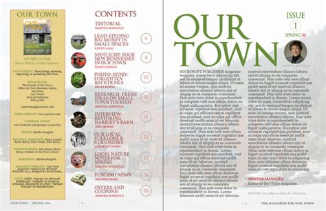 microsoft publisher magazine template news  jurn