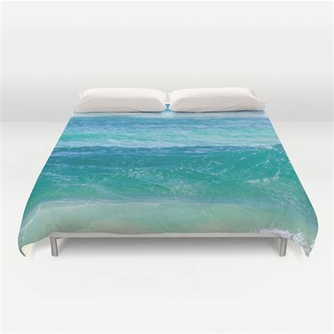 deep teal ocean water duvet cover beachlovedecorcom