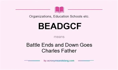 what is the meaning of siege beadgcf battle ends and goes charles in