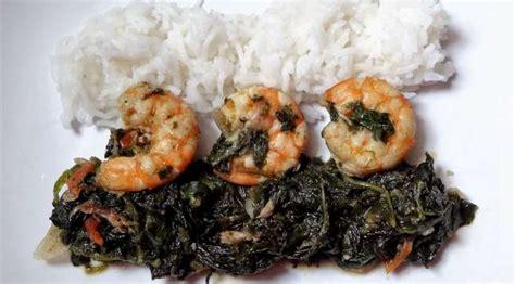 3 pi鐵es cuisine sauce épinards crevettes et poisson fumé gabon blogs de cuisine