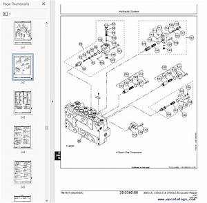 John Deere Excavator 200  230  270 Clc Tm1931 Technical