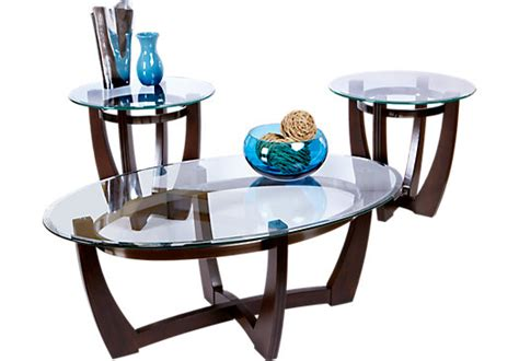 haverhill brown 3 pc table set table sets wood