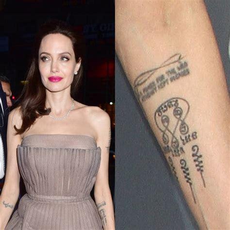 Angelina Jolie Swirl Forearm Tattoo  Steal Her Style