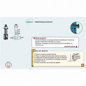 Gabarit Percage Biais : gabarit de per age universel pour scellement chimique ou ~ Premium-room.com Idées de Décoration