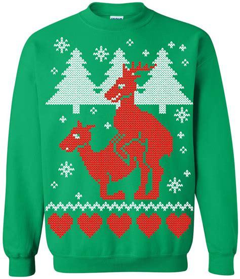 igly sweater sweater reindeer crew neck sweatshirt
