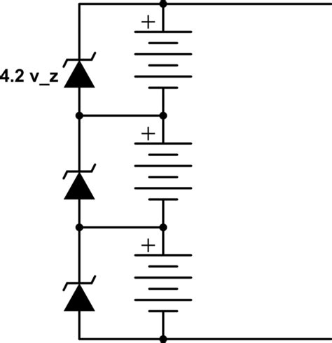 Lithium Ion Balancing With Zener Diodes