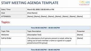 agendas for meetings templates free - meeting agenda template excel dotxes