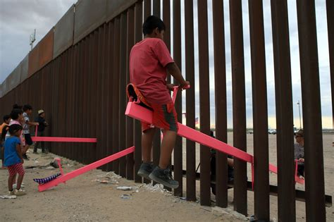 border mexico seesaw humanity glimmer sbs afp