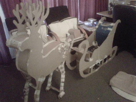 diy paper sleigh kids how to make a reindeer and santa sleigh part 1 tania4art