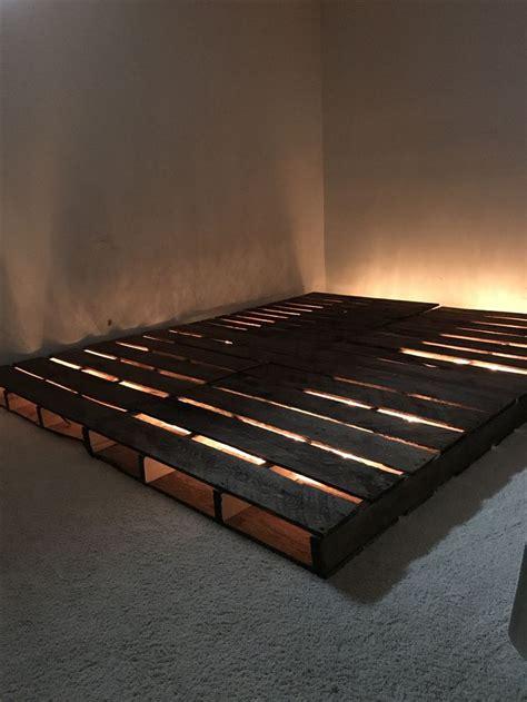 pallet platform bed ideas  pinterest diy bed