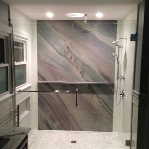 Granite Slab in Custom Shower Remodel   JimHicks.com