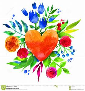 Blumen Der Liebe : weinlesehintergrund mit blumen in der liebe und im blumenherzen blumenherz des sch nen ~ Orissabook.com Haus und Dekorationen