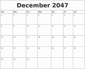December 2047 Printable Calenders