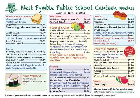 Canteen Menu Template by Student Activities Uc Portfolio