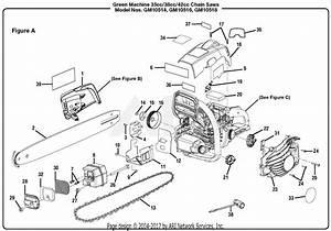 Homelite Gm10516 16 U0026quot  38cc Chain Saw Parts Diagram For Figure A