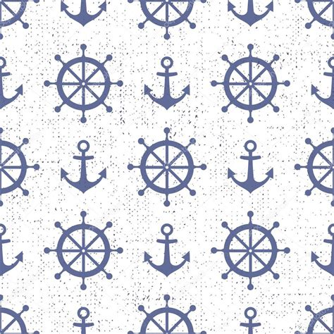 Nautical Background Nautical Background Navy Vector Seamless Pattern