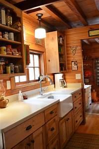 Rustic Cabin - Galley Kitchen - Rustic - Kitchen