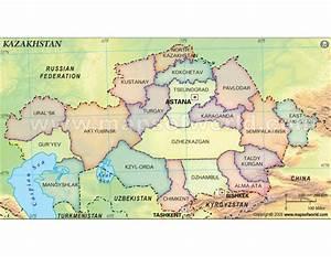 Buy Kazakhstan Map with States
