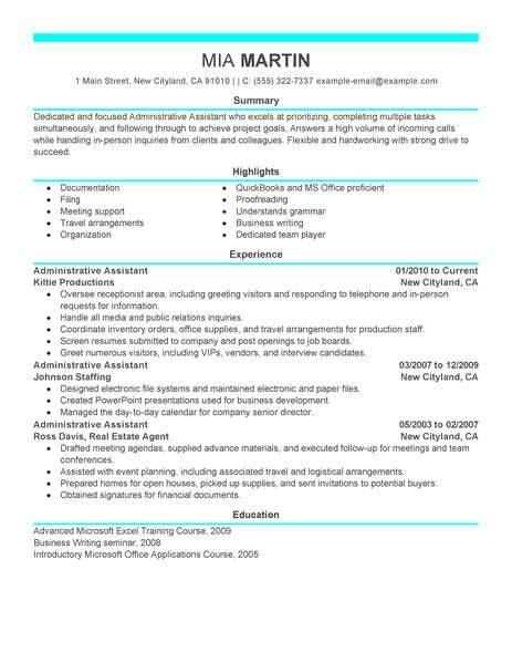 Admin Resume by 16 Amazing Admin Resume Exles Livecareer