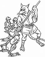 Splinter Master Fighting Coloring Pages Robot Getcolorings Printable Getdrawings Figh sketch template
