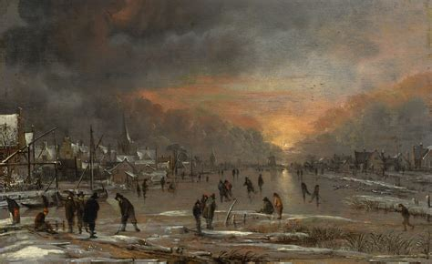 Wallpaper Landscape Riding On A Frozen River Art Van Der