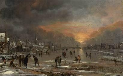 Wallpaperup Aert Neer Neuer Frozen Riding River