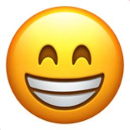 emoji visage souriant aux yeux rieurs emojifrance