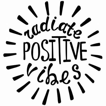 Vibes Positive Radiate Hippie Sticker Stickers Clipart