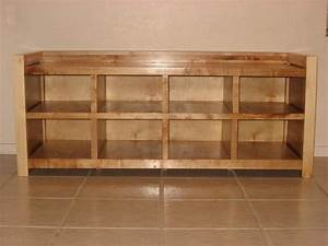 Wooden Shoe Storage Bench Plans