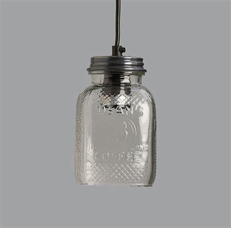 glass coffee jar pendant light by horsfall wright