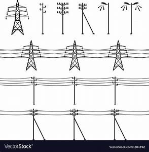 High voltage power lines Royalty Free Vector Image