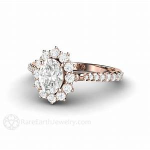Forever One Moissanite Engagement Ring Pave Halo Charles ...