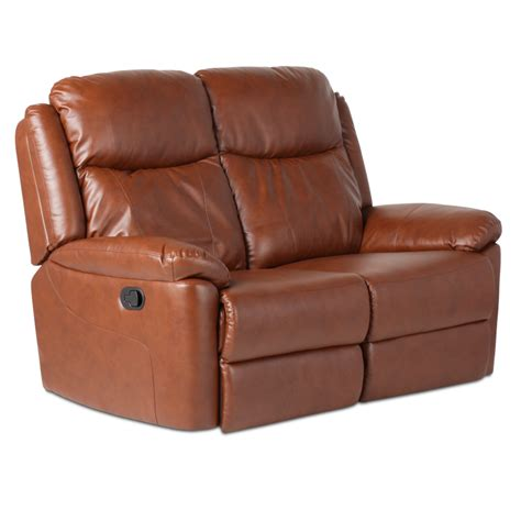 two seater recliner sofa leather recliner sofa 2 seater reya brown price 352 80