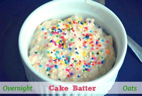 overnight cake batter oats moments  mandi