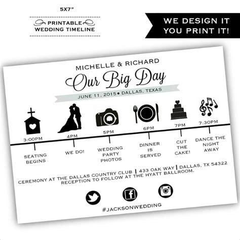 wedding reception timeline template 29 wedding timeline template word excel pdf psd vector eps free premium templates