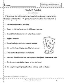nouns for worksheets common and proper nouns worksheets from the 39 s guide