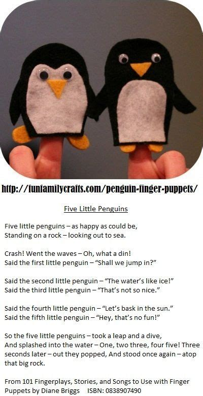 five penguins fingerplay for play penguin poem 241 | 33c56a0b421ba8e51cdcb77633f48415