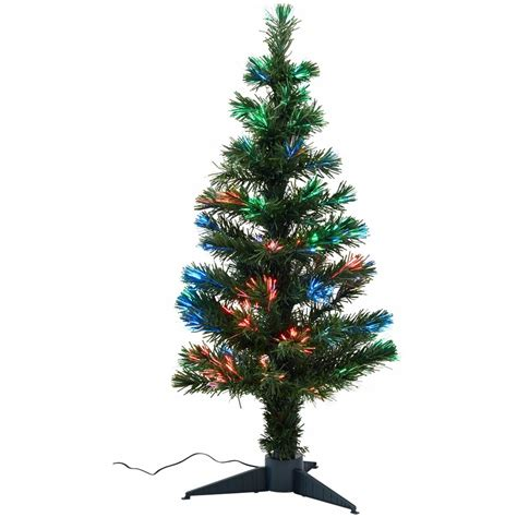 christmas tree fibre optic 90cm each woolworths