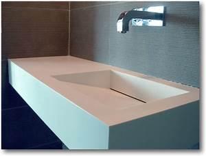 Vasque En Corian : plan vasque corian avec vacuation dissimul e crea ~ Premium-room.com Idées de Décoration