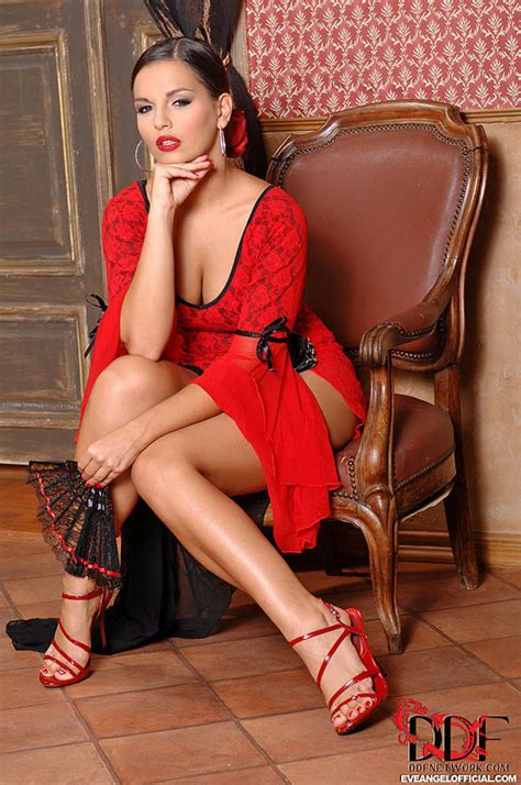 Eve Angel posing in Spanish dress - Pichunter