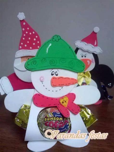 porta bombom boneco de neve foami