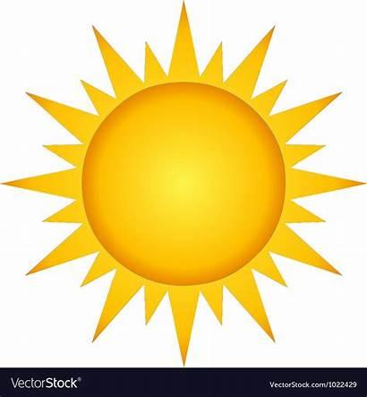Sun Vector Summer Illustration Cartoon Royalty Vectorstock