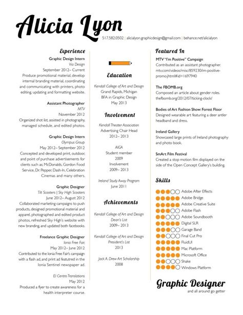 pin  matt paquette  resume graphic design resume