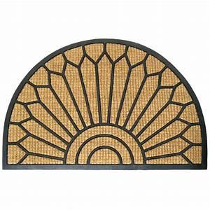 tapis d39entree en demi lune rona With porte d entrée pvc avec tapis de salle de bain demi lune